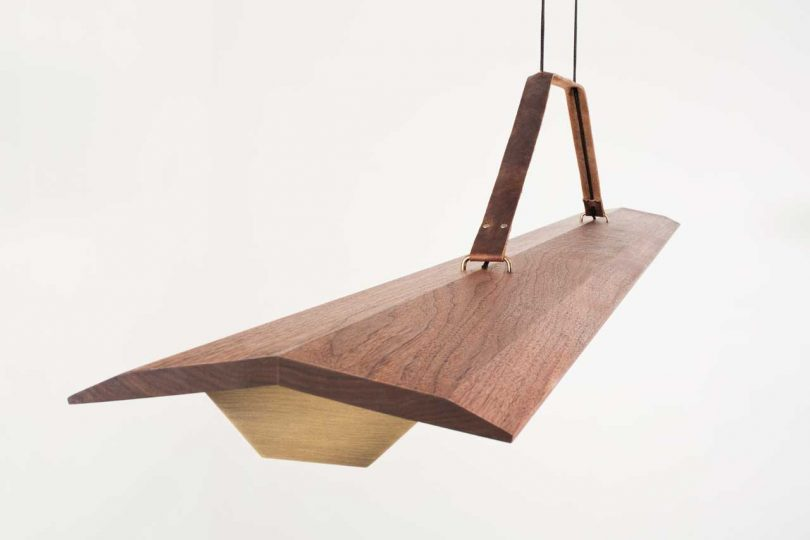 Cerno Introduces the Penna Lighting Collection that Mixes Wood, Leather, and Brass