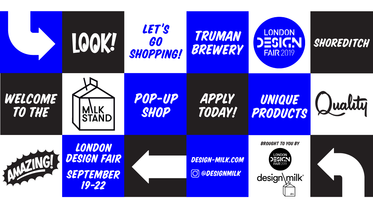 Open Call: Apply to the Milk Stand Pop-Up Shop at London Design Fair 2019!