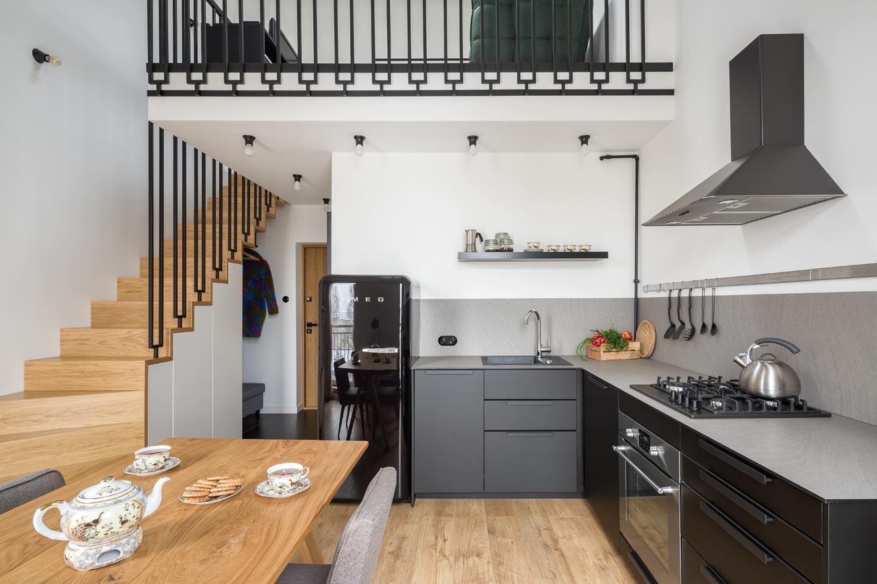A Flat in a Tenement House in Lodz by 3XEL Architekci