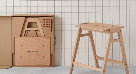 The Stackable, Flat-Pack Lab Stool by King & Webbon