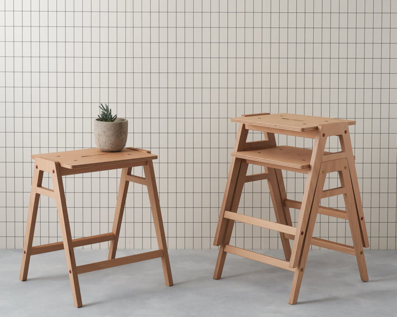 Marvelous The Stackable Flat Pack Lab Stool By King Webbon Real Caraccident5 Cool Chair Designs And Ideas Caraccident5Info