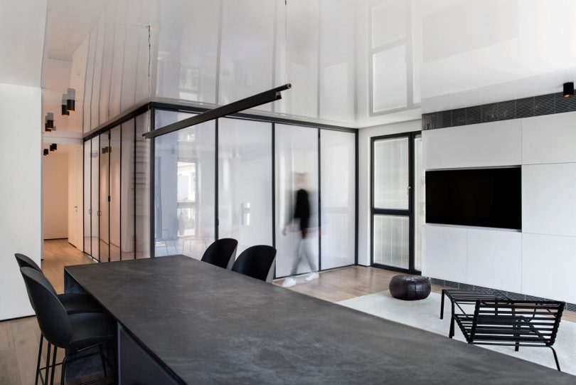 The N Apartment in Tel Aviv Houses a Bedroom in a Plastic Box