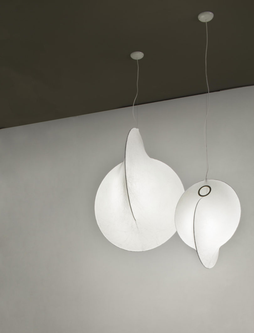 FLOS Introduces Overlap, a Modern Cocoon-Style Pendant Lamp