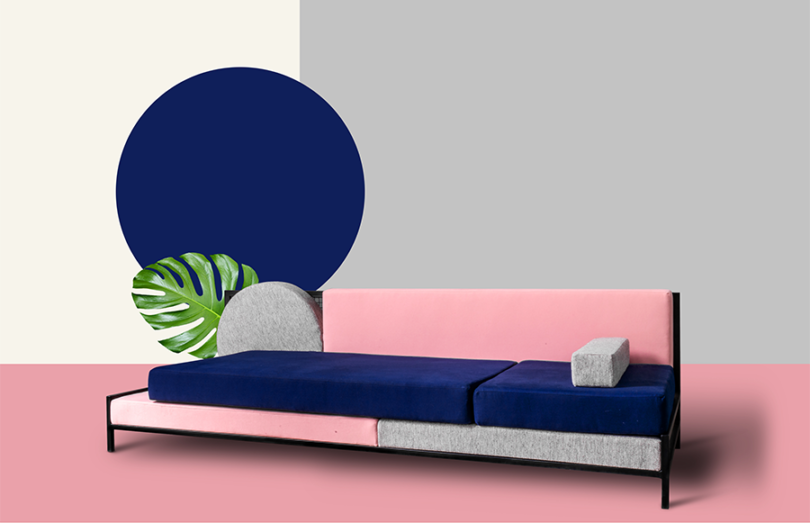 Full view of the Tetris Sofa
