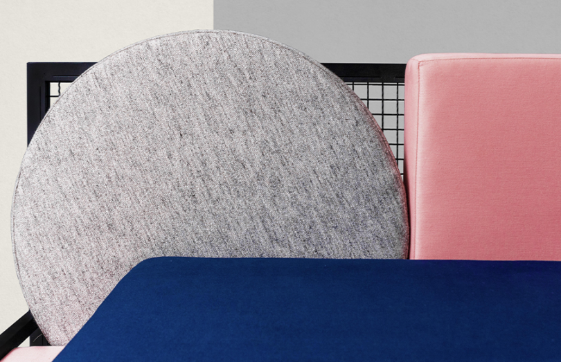 Close up of the Tetris Sofa