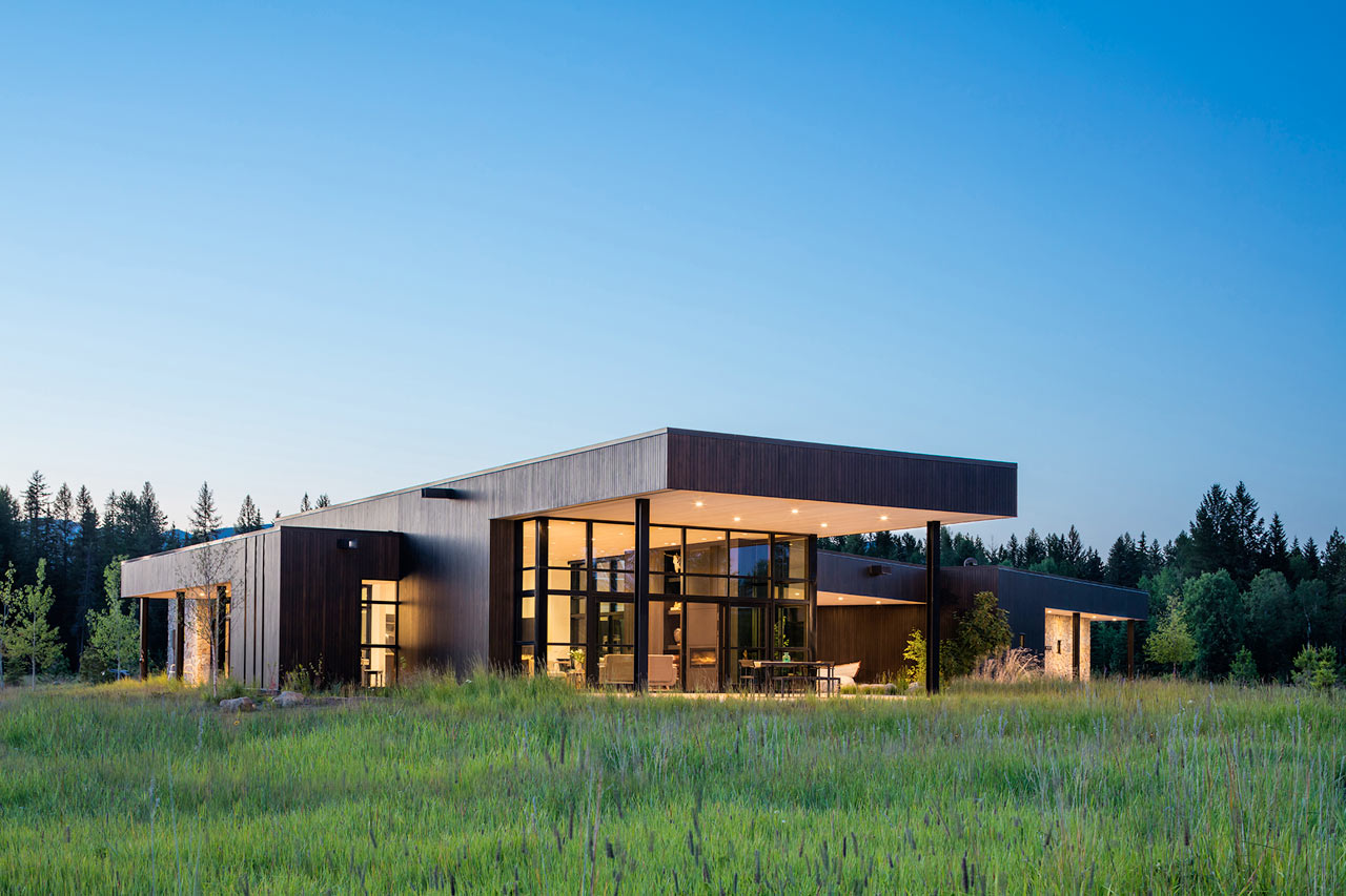 The Triangular Confluence House Is Situated Where Two Rivers Meet in Montana