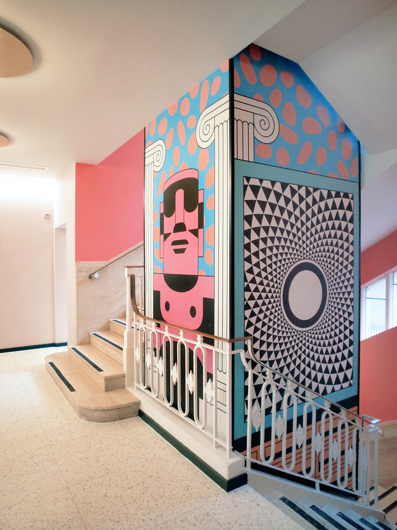 Peter Judson Creates Bold Murals for Scape Student Housing in London