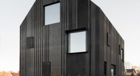 A Modern Villa in Sweden Clad in Blackened Wood