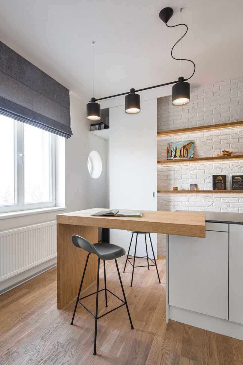A Small, Prague Flat Designed for a Busy Man