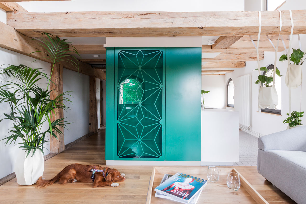 The Monka Apartments Feature Bathrooms in Colored Steel Cubes
