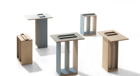 UV Printed Plywood Side Tables by Craft Combine