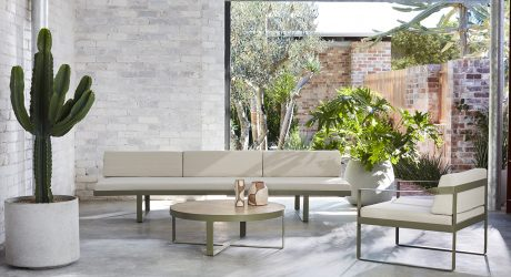 The Ribbon Range is a Light + Open Outdoor Furniture Collection