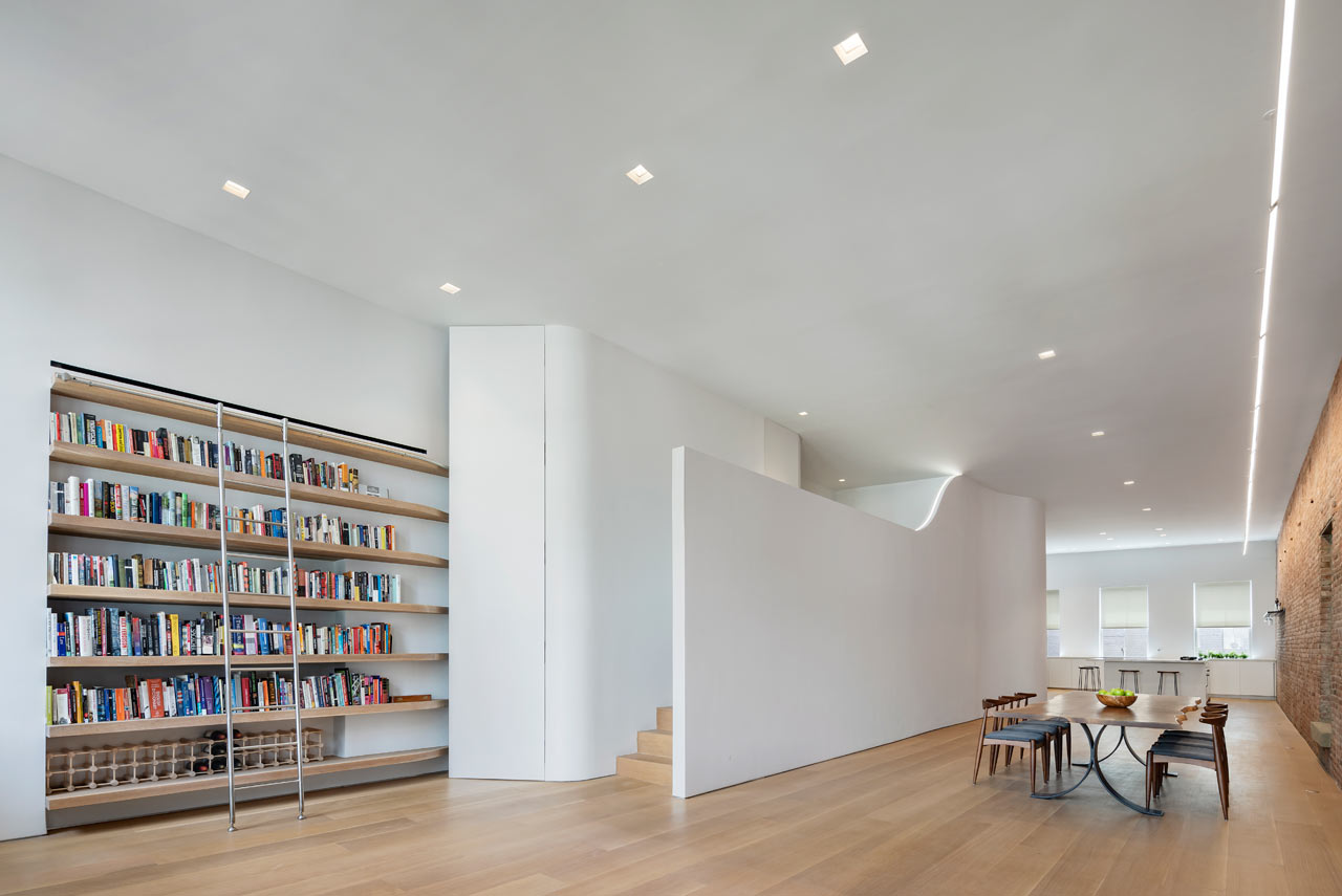 A SoHo Loft with a Hidden Loft Bedroom by Julian King Architect - Design Milk