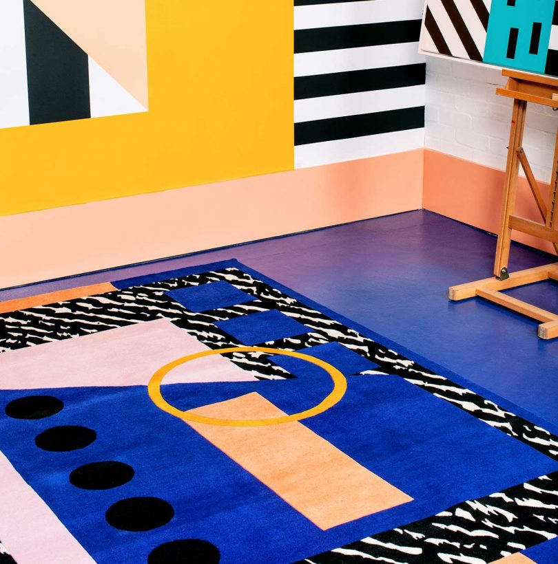 Camille Walala Brings Her Vibrant Patterns to Rugs with FLOOR_STORY