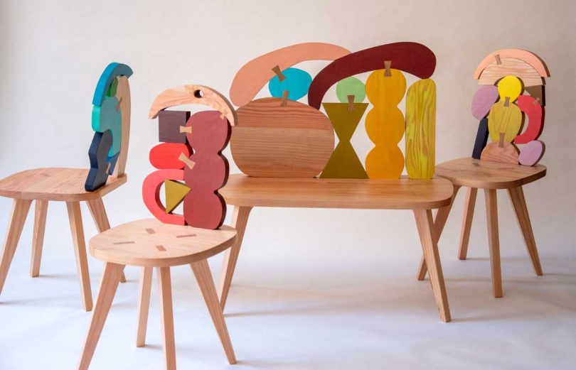 Abstract Assembly: Sculptural Seating + Mirrors by Donna Wilson