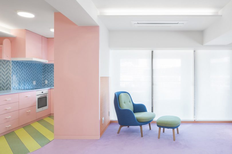 A Palette of Pastels Permeate Prolifically Within This Japanese Apartment