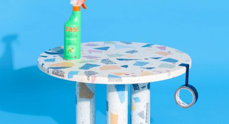 A Group of Objects Made From Recycled Terrazzo + Marble