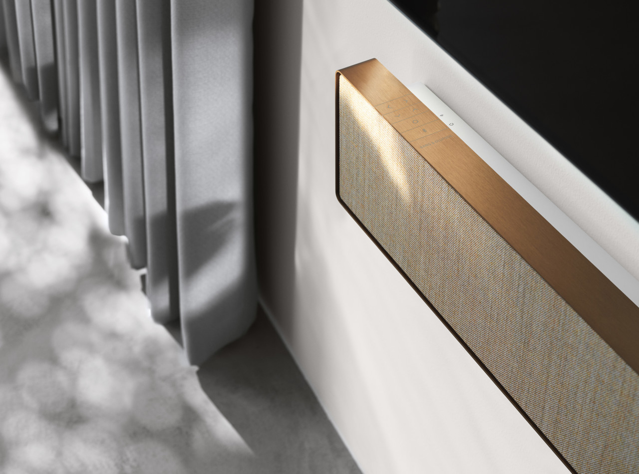 A Single Piece of Forged Aluminium Gives Shape to Bang & Olufsen's First Soundbar