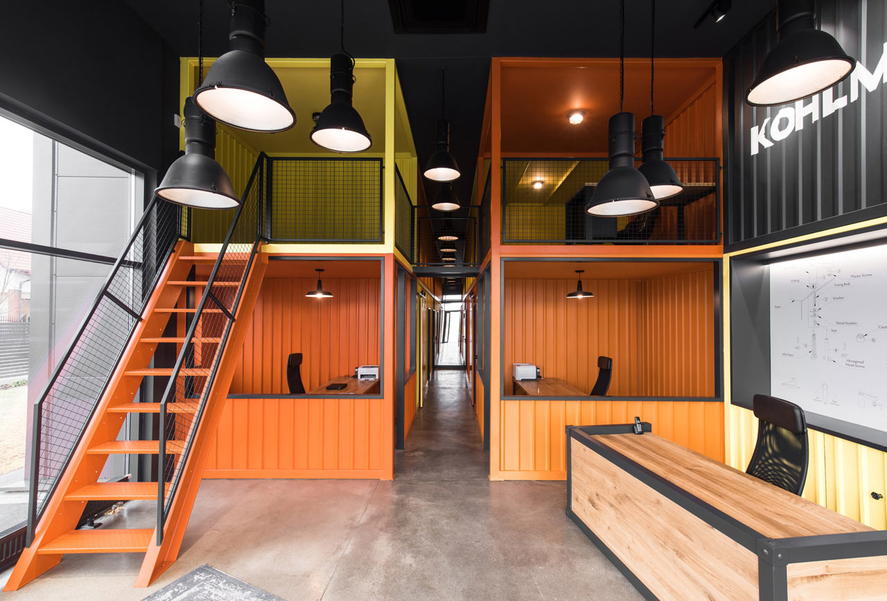 An Office in Poland Inspired by Shipping Containers by mode:lina