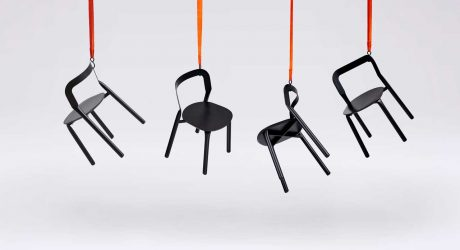 Adam Štok Designs a Set of Chairs Formed by a Hydraulic Press
