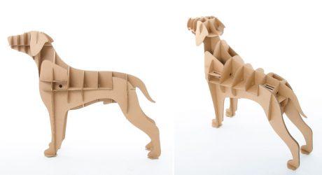 Chucho: Life-Size Cardboard Dog Organizers from Milimetrado