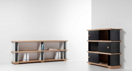 Shelving Inspired by DIY Shelves Made With Blocks + Boards