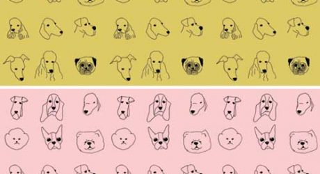 Dog Wallpaper by Baines & Fricker