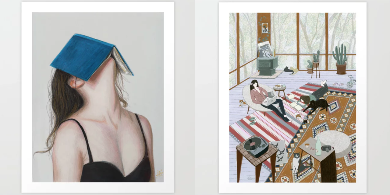 Fresh From the Dairy: Art for Book Lovers
