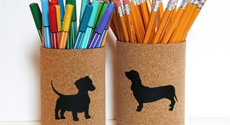 Dog-I-Y: Cork-Covered Dog Breed Pencil Cups