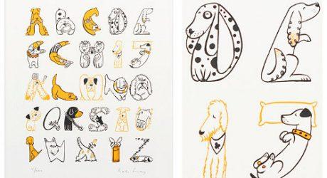 Dog Alphabet Print by Helen Lang