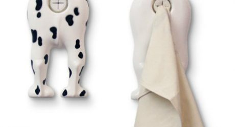 Dog Butt Towel Holder