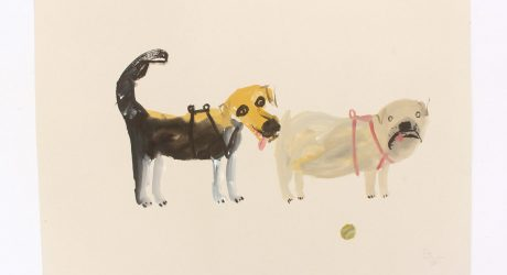 Dog Illustration by Faye Moorhouse