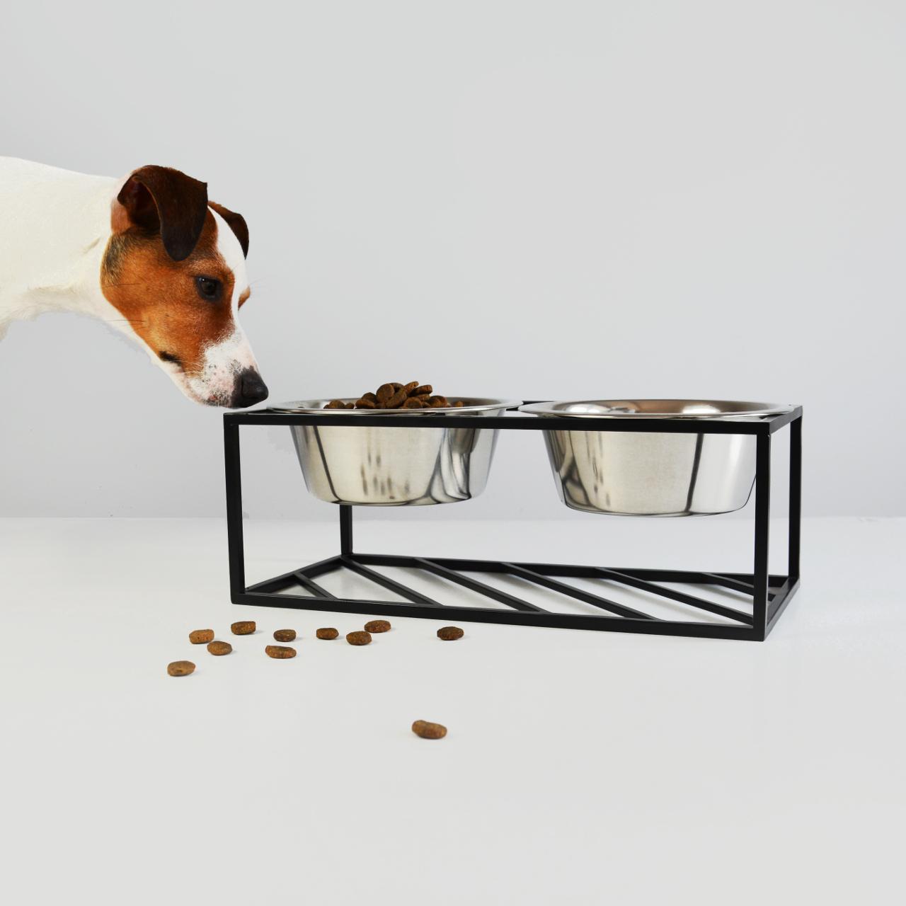 Minimalist Raised Pet Feeder from HELLO PETS