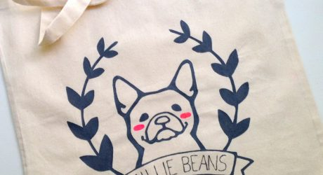 Custom Dog Totes from Hither Rabbit