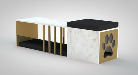 JUNTOS Bench by Daniel Germani for Cosentino