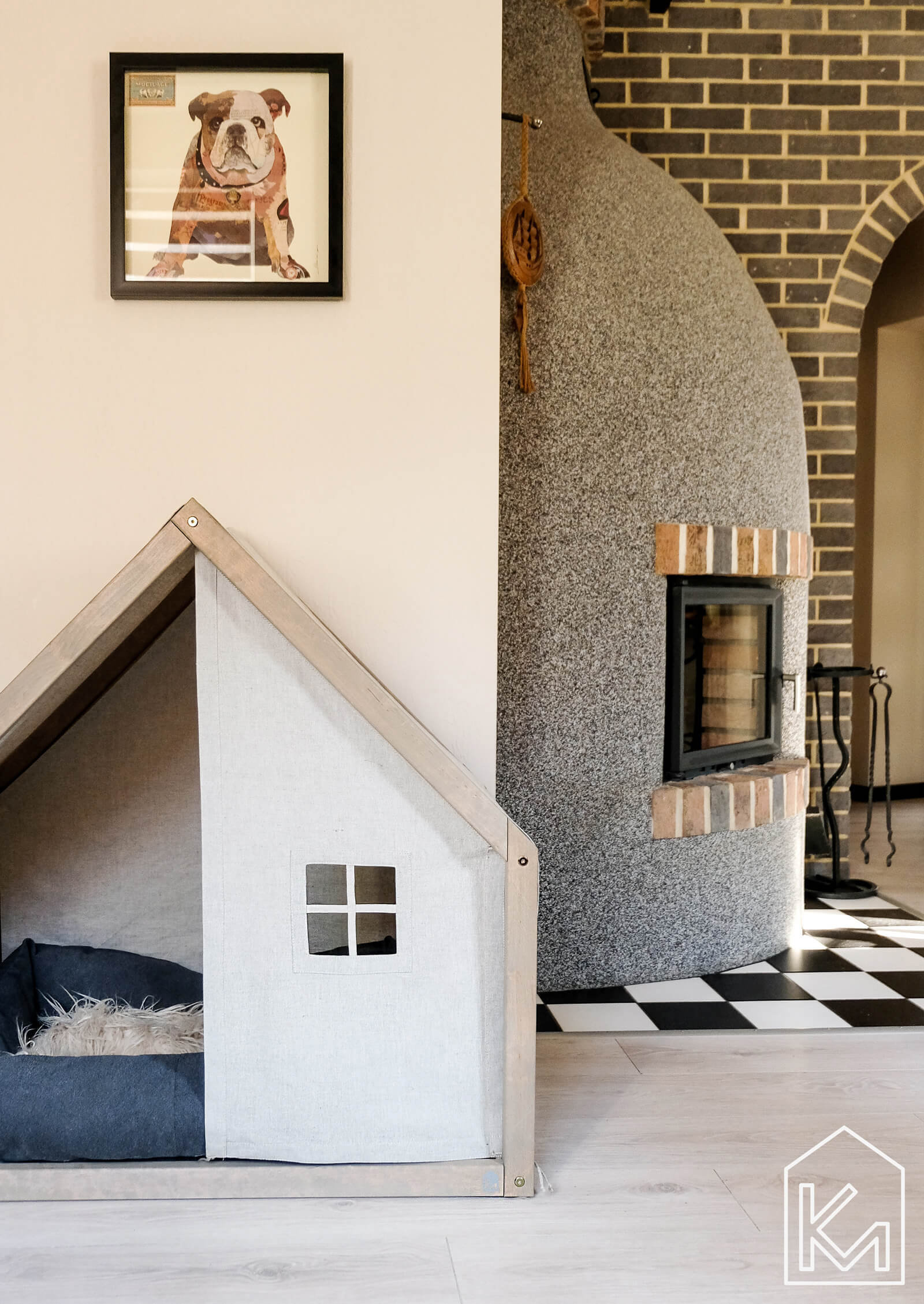 Modern Indoor Doghouses from KM Design Co.