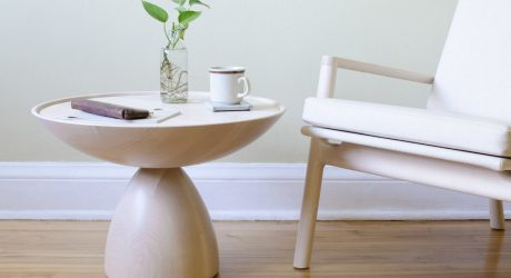 A Modern Maple Chair and Table by Kai Takeshima
