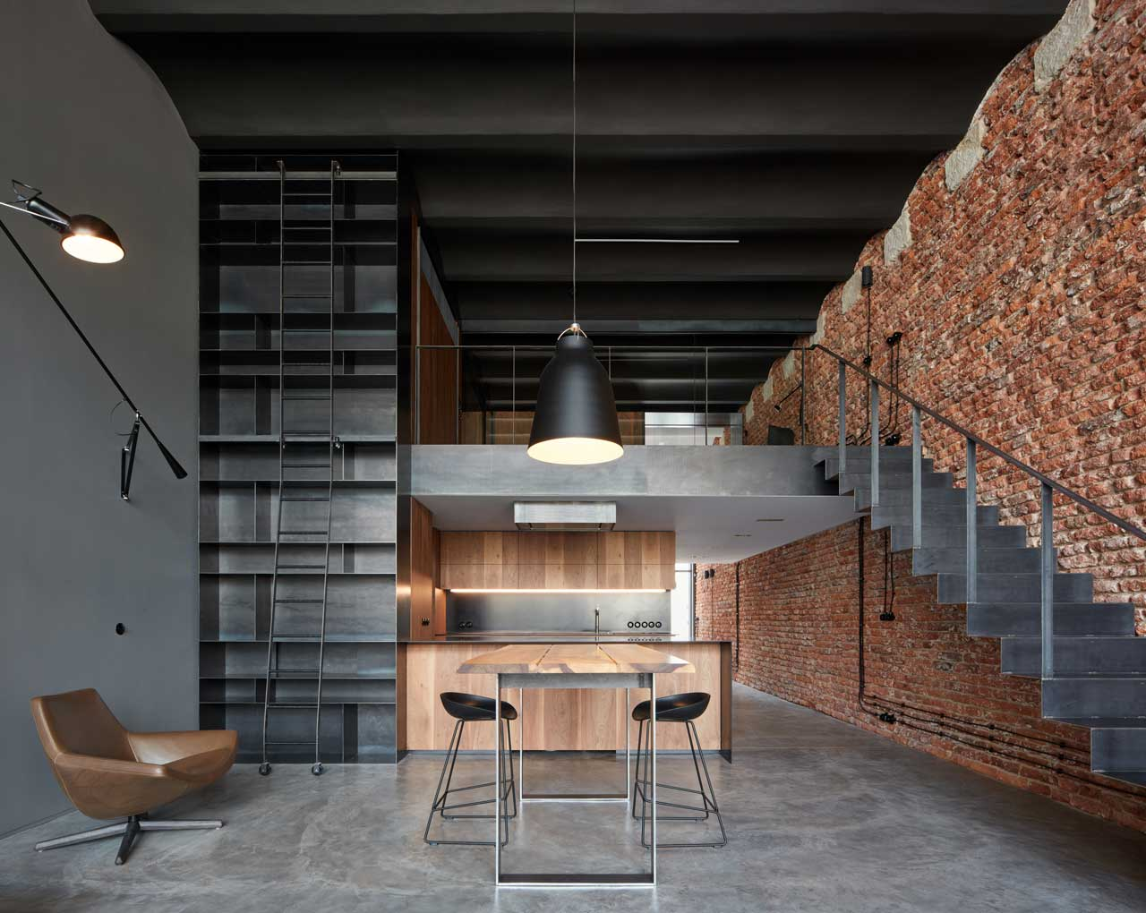 An Old Brewery in Prague Becomes an Industrial Loft