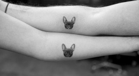 Micro Pet Portrait Tattoos by Sanghyuk Ko