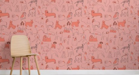 Dog-Patterned Wall Coverings from Murals Wallpaper