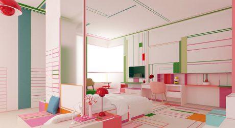 Brani & Desi's Pink Lake Breath Explores Color and Geometry
