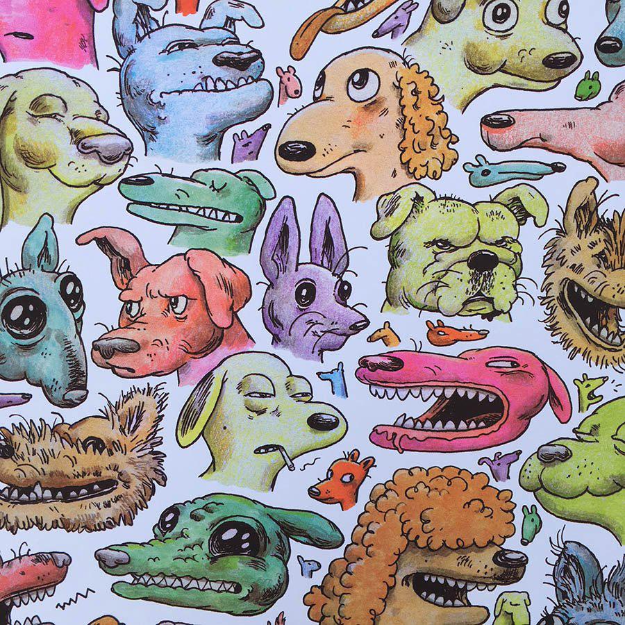 Dog Illustrations by Travis Millard