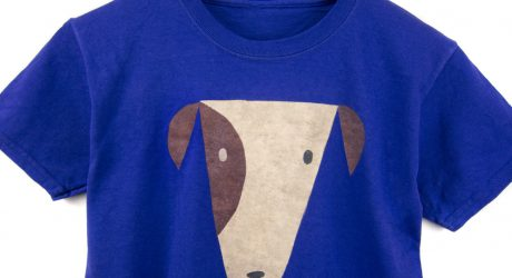 Hand-stenciled Dog Tees from Two String Jane
