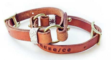 Adjustable Leather Dog Collars from RESQ/CO
