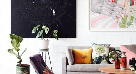 Spotted: Frenchie in an Art-Filled Home
