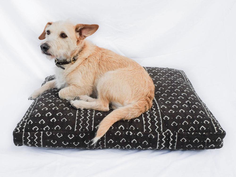 Mudcloth and Shibori Dog Beds from Backup Design