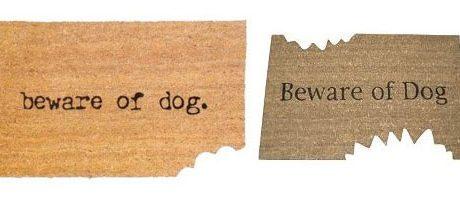 Beware of Dog Doormats