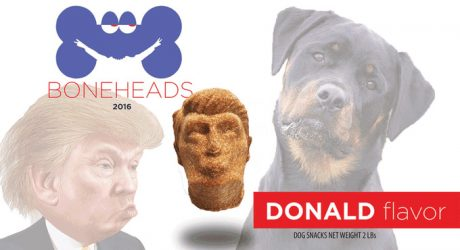 Boneheads 2016: Presidential Candidate-Shaped Dog Treats