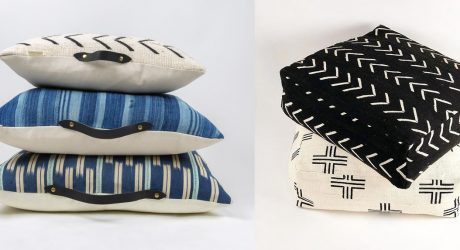 Mud Cloth Poufs & Pillows from Bryar Wolf