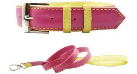 Canville Lola Leather Collar and Leash